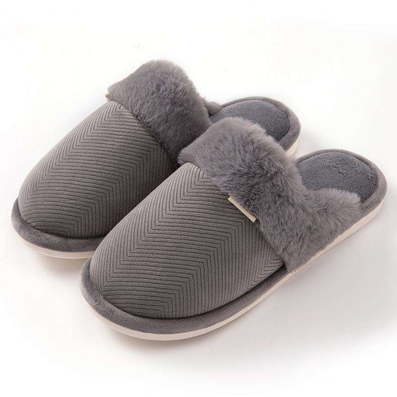 Winter Suede Non Slip Home Slippers For Women
