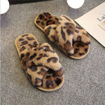 Leopard Print Indoor Ladies Slippers