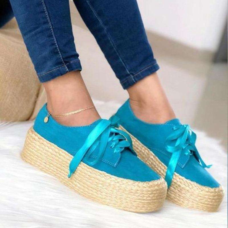 Canvas Loafers Thick Bottom Flats Shoes