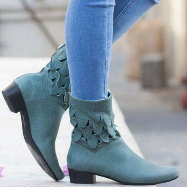 Women Casual Ankle Boots With Buckle Strap