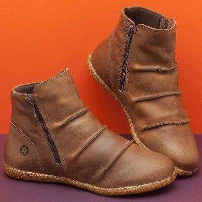 Female Ankle Zipper Boots For Autumn