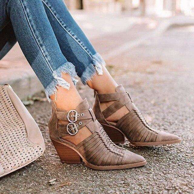Sexy Ankle Boots With Pointed Toe