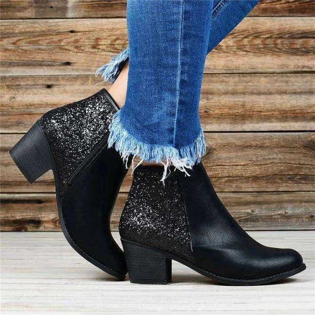 Female Autumn Boots With Buckle Strap