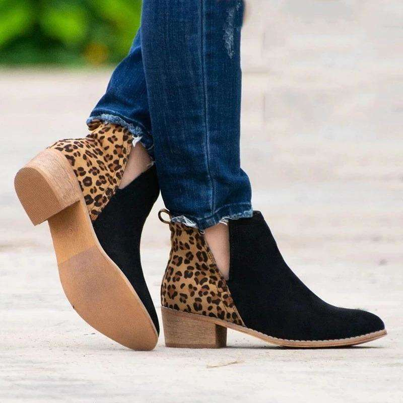 Suede Leather Patchwork Woman Boots