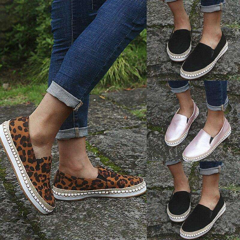 Round Toe Platform Casual Comfortable Shoes