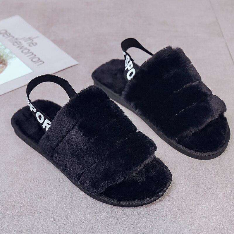 Women Fur Home Slippers