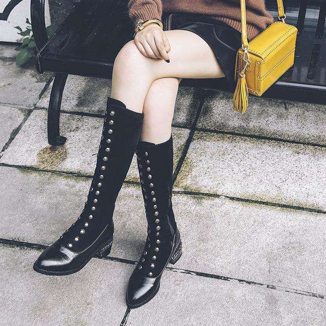 Riding Casual Rome Style Boots For Autumn