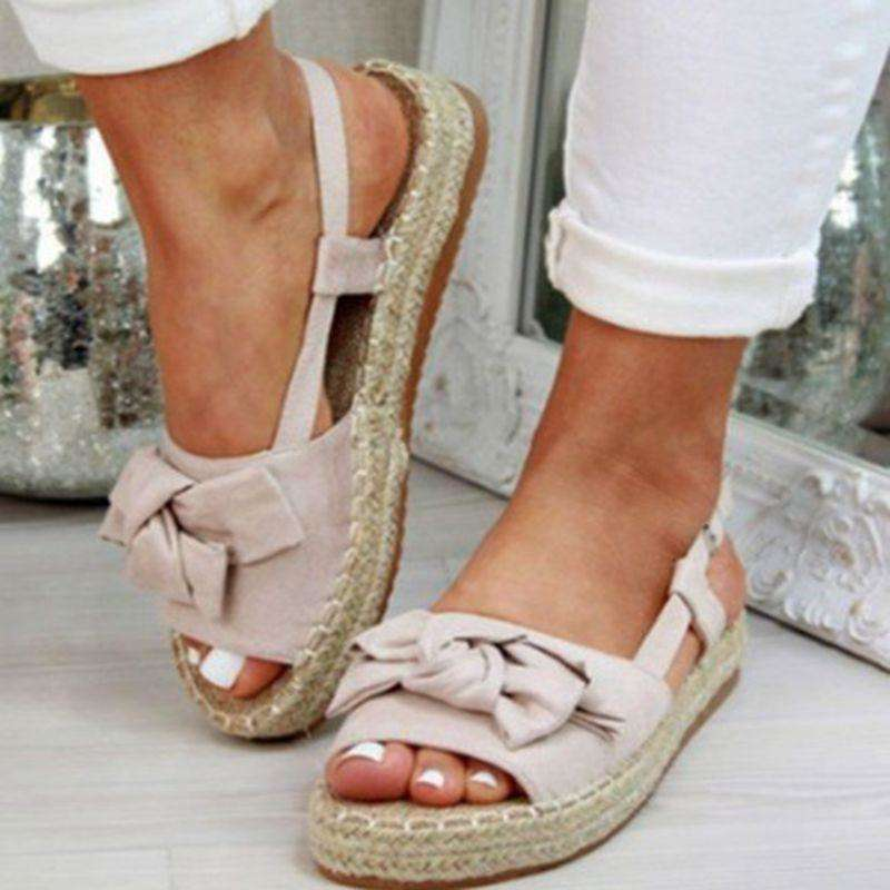 Peep Toe Buckle Design Roman Summer Sandals