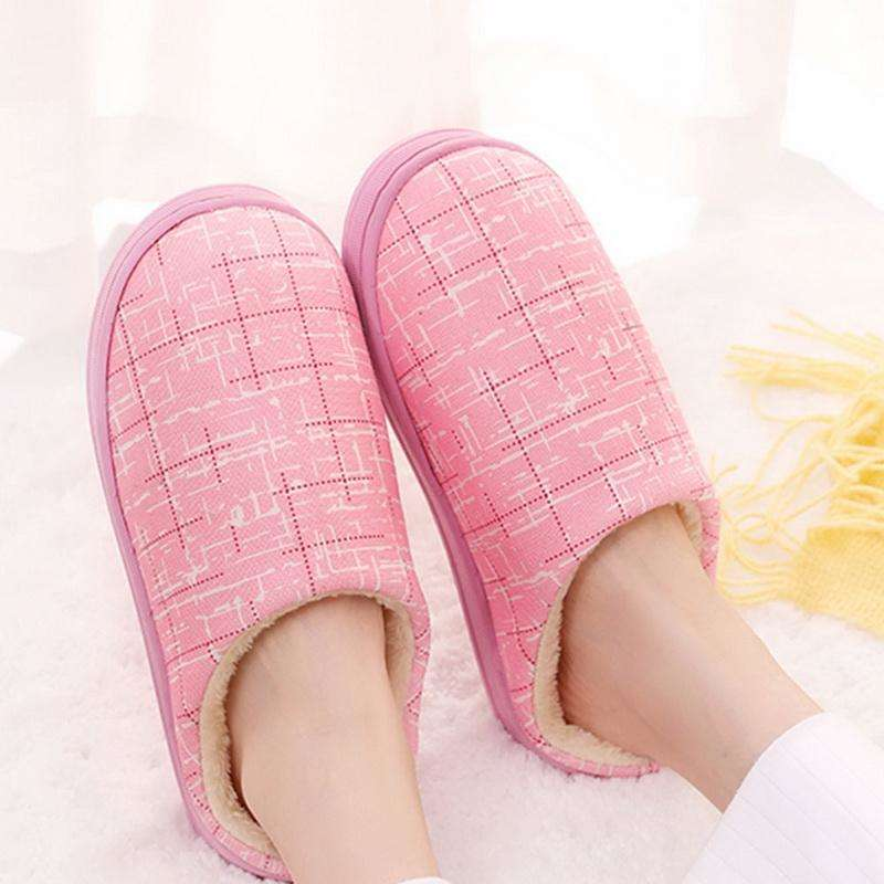 Indoor Striped Slippers For Autumn