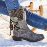 Retro Handmade Leather Long Boots
