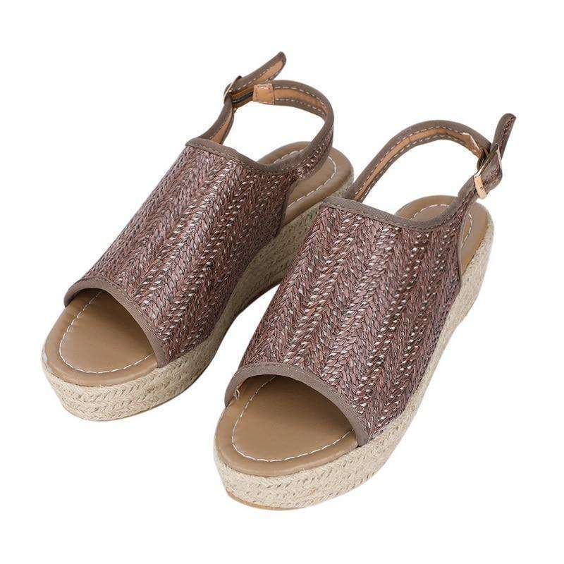 Braided Thick Sole Roman Beach Sandals
