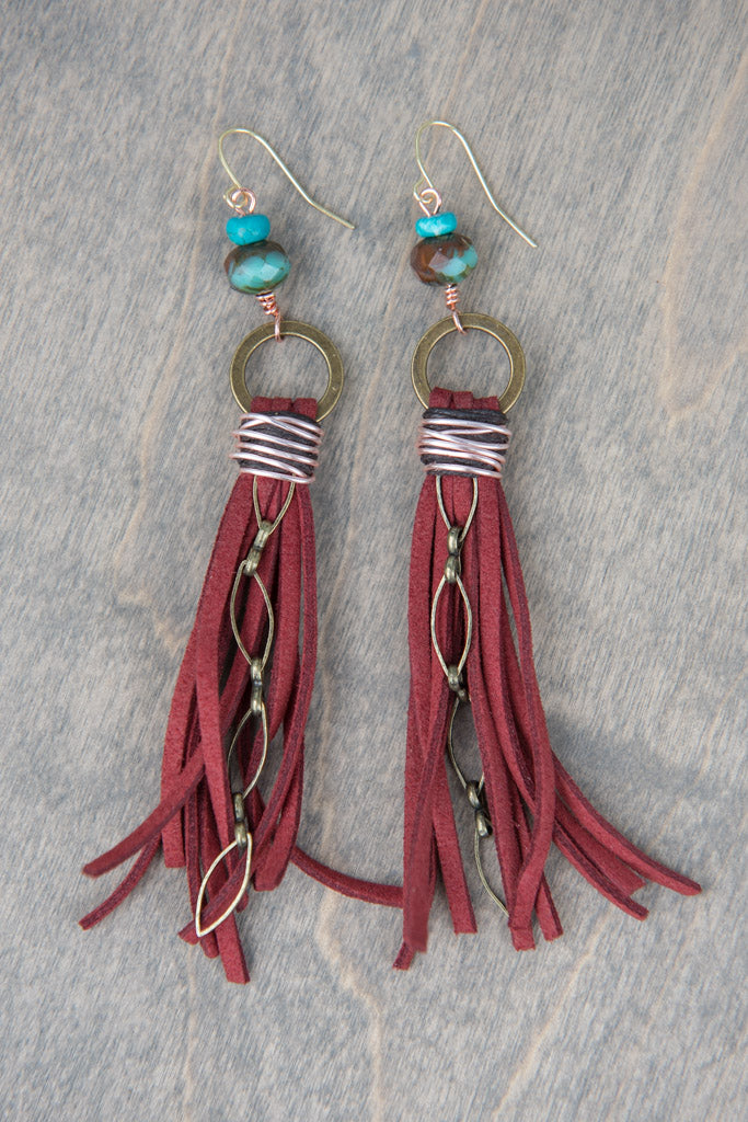 Suede Tassel Earrings