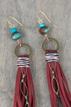 Load image into Gallery viewer, Suede Tassel Earrings