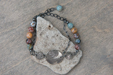 Load image into Gallery viewer, White Copper and Jasper Bracelet