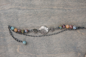 White Copper and Jasper Bracelet