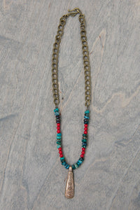 Medium - Chrysocolla and Coral