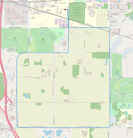 MSU Surplus Store Test Drive Map