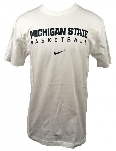 Nike White Michigan State Basketball Short Sleeve T-Shirt Men's Size Medium