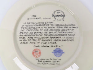"Knowles Porcelain Collectible Plate ""Mothers Day 1992"""