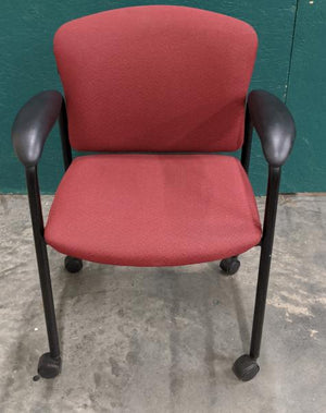 HON Tiempo Rolling Guest Arm Chair - Red