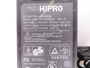 HIPRO 40W Power Supply Model HP-O2040D43