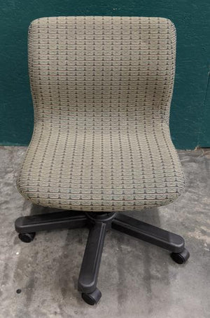 Low Rolling Armless Task Chair - Bronze/Black Pattern