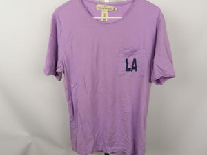 "H&M Lavender Front Pocket ""LA"" T-Shirt Men's Size M"