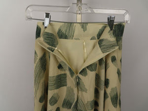 Lightweight Beige Skirt w/Forest Green Design Young Miss Size S