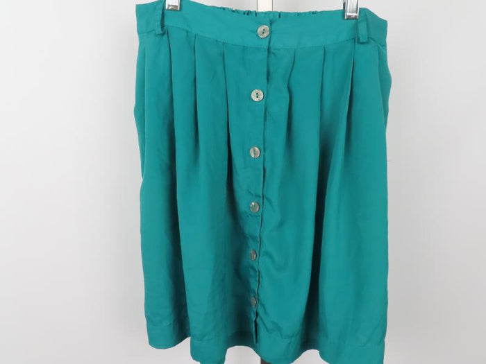 Xhilaration Button Front Emerald Green Skirt Women's Size M