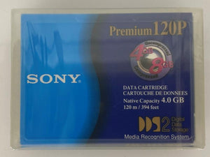 Sony 120P Premium 120P 4mm 4GB/8GB DDD2 Data Tape Cartridge
