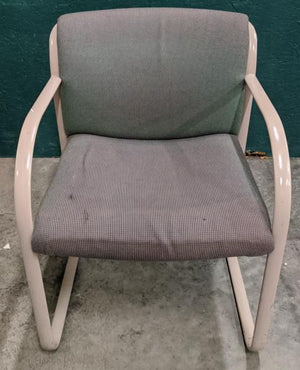 Steelcase Snodgrass Green/Discolored/Tan Arm Chair