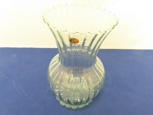 Clear Hand Blown Vase