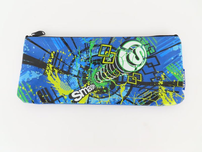 Smash Blue and Multi-Color Pencil Bag
