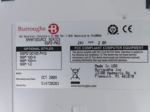 Burroughs SmartSource SSP2-PK2 Professional Check Scanner