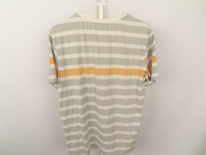 Leisure Series Gray, White, and Mustard Stripe Men's T-Shirt Size XL