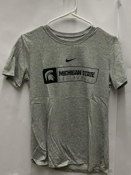 Nike Grey Michigan State Dri-Fit Women's Volleyball T-Shirt