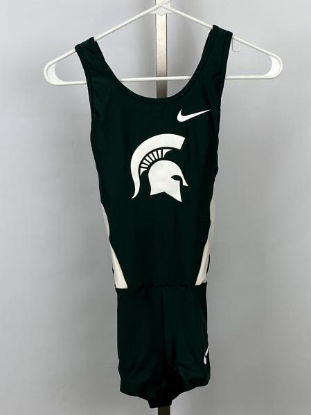 Nike Green Michigan State Track and Field Women's Unitard
