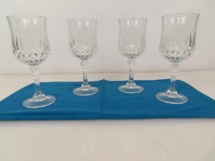 Wine Goblets Thumbprint Design Set of 4