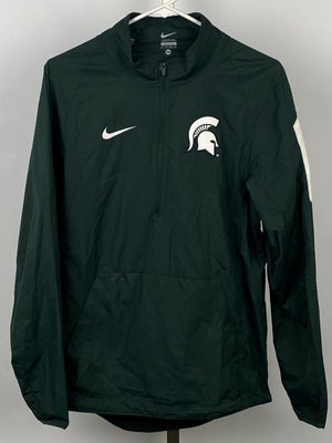Nike Green Quarter-Zip Pullover Windbreaker Men's Size X-Small
