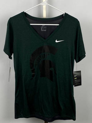 Nike Green and Dark Grey Dri-Fit T-Shirt Women's Size Medium