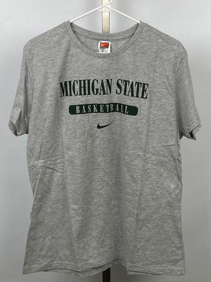 Nike Grey Michigan State Basketball T-Shirt Women's Size XXL