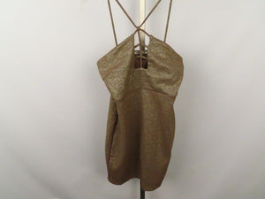 Charlotte Russe Taupe Cocktail Dress Women's Size M