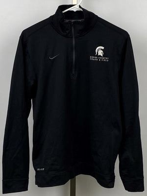 Nike Black MSU Track & Field/Cross Country 1/4 Zip Pullover Women's Size Small