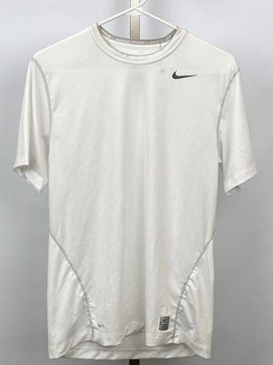 Nike White Pro Compression Short Sleeve Shirt Men's Size Medium