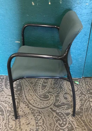 Green Chair with Metal Legs