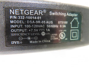 Netgear 7.5W Power Supply DSA-9R-05 7.5A 1A