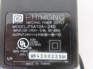 Phihong 10W Power Supply PSA10A-240 24V 0.415A
