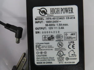 High Power 40W Power Supply HPA-401234U3 12V 3.4A
