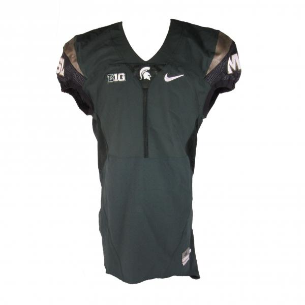 Authentic Blank Green Alternate MSU Football Jersey