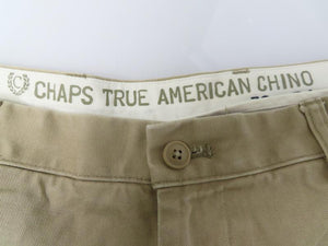 Chaps True American Chino Beige Casual Pants Men's Size 30